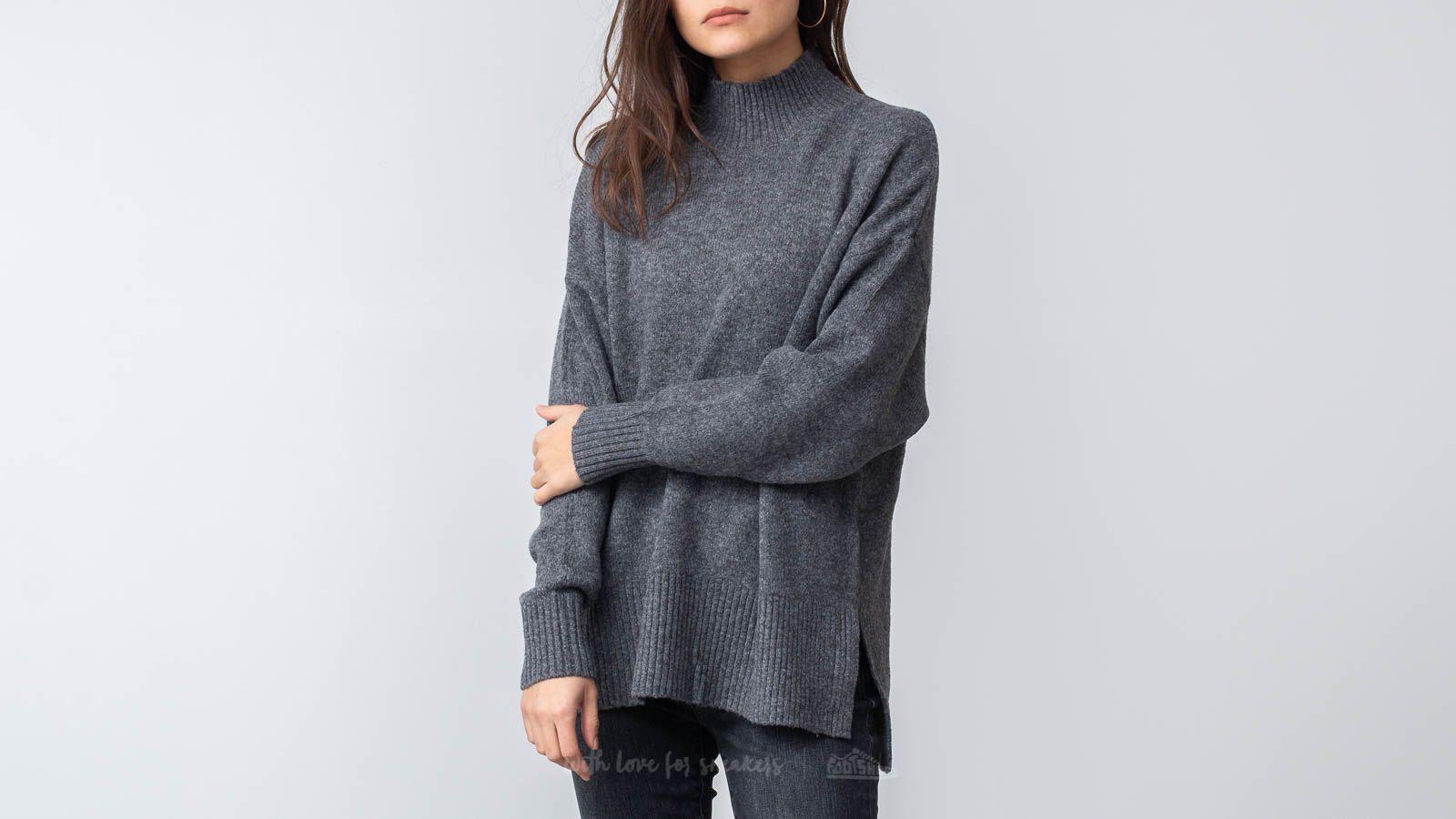 SELECTED Lara Longsleeve Knit Highneck Pullover Medium Grey Melange za skvělou cenu 770 Kč koupíte na Footshop.cz