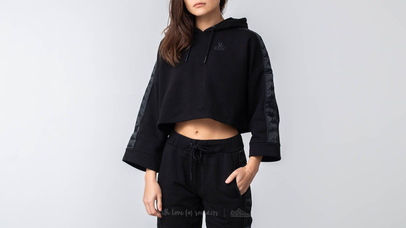 Mikiny a svetry Kappa Authentic Allas Hoodie Black