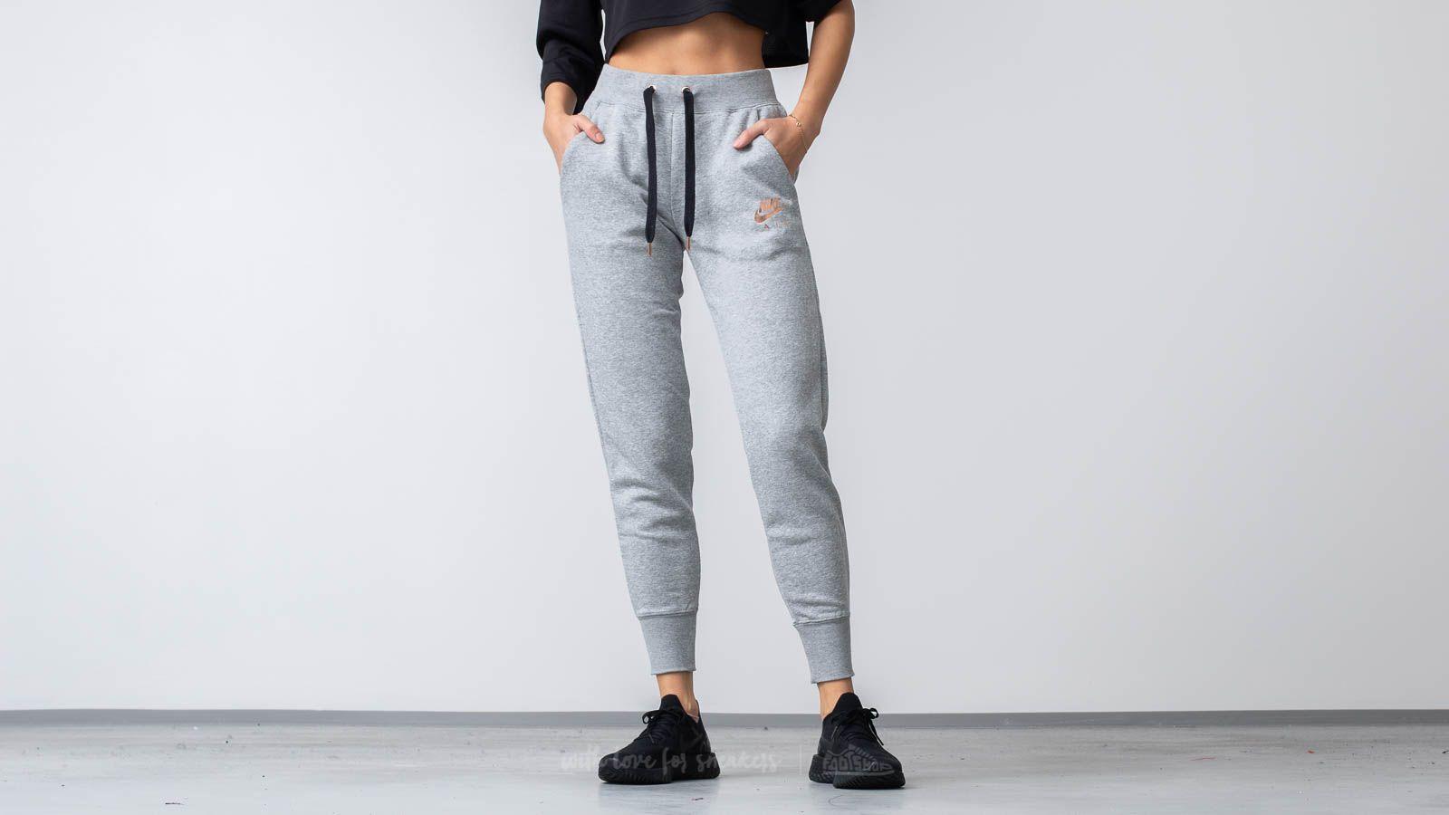 Nike Sportswear Air Fleece Pants Dark Grey Heather/ Black