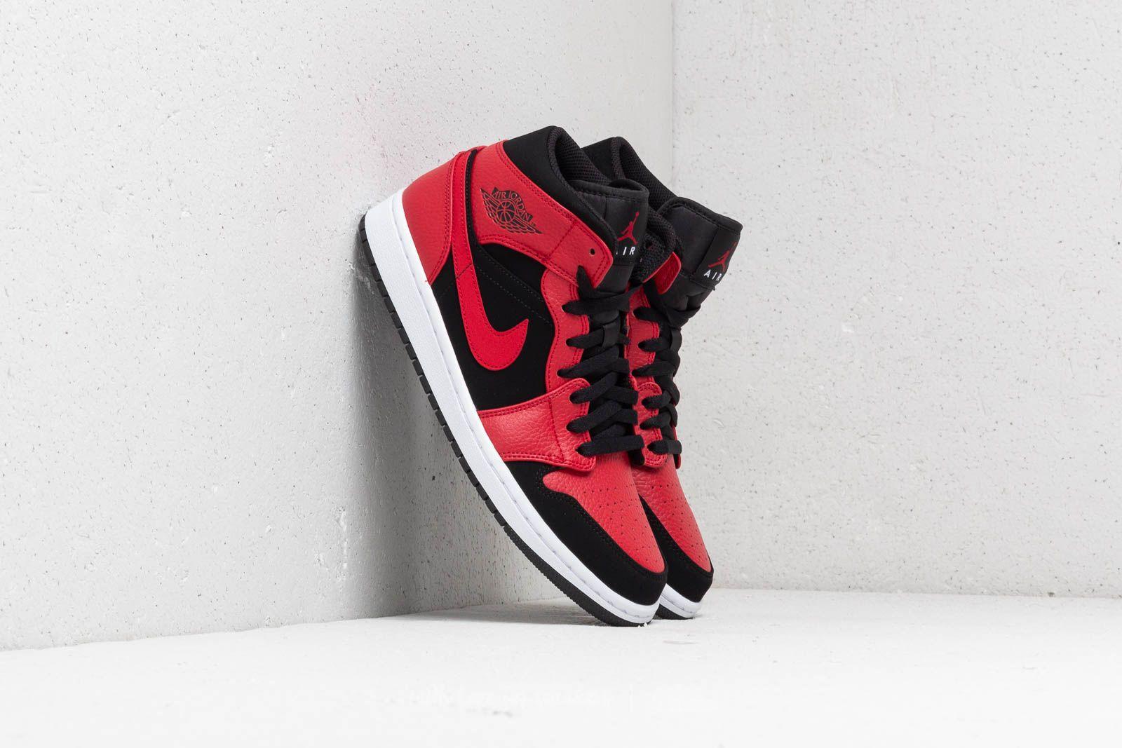 half off c4dae 67170 Air Jordan 1 Mid Black/ Gym Red-White | Footshop
