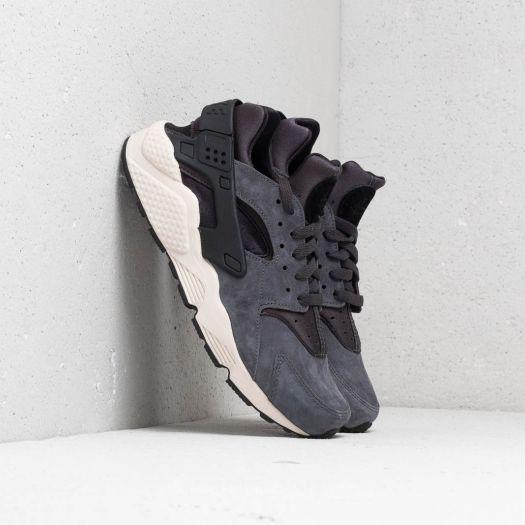 Nike Air Huarache Run Premium Chaussures Homme Baskets Black