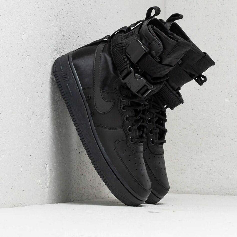 Nike Wmns SF Air Force 1 Black/ Black-Black-Oil Grey EUR 41