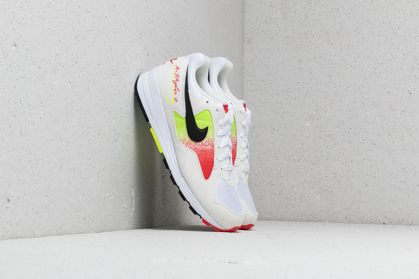 Nike Air Skylon II White/ Black-Volt-Habanero Red