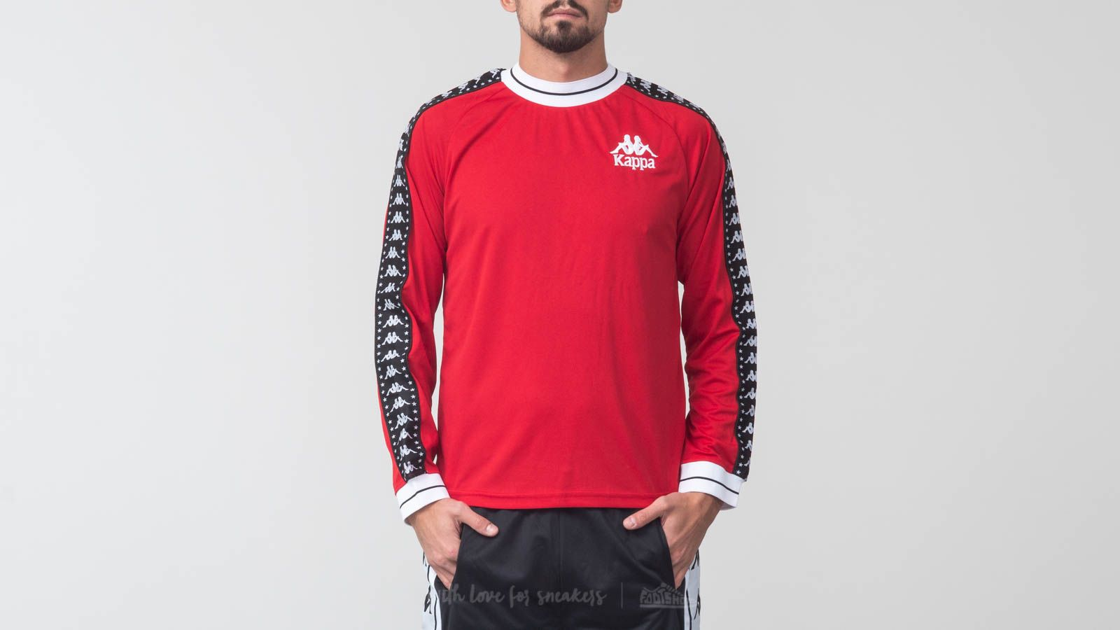Kappa Authentic Aneat Longsleeves Tee Red/ White