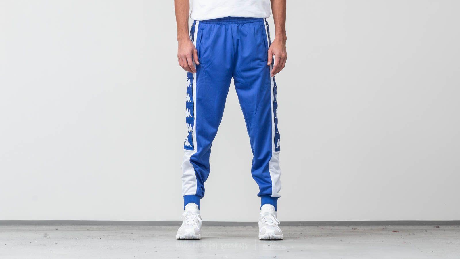 Džíny a kalhoty Kappa Alen Banda Pants Blue Royal/ White