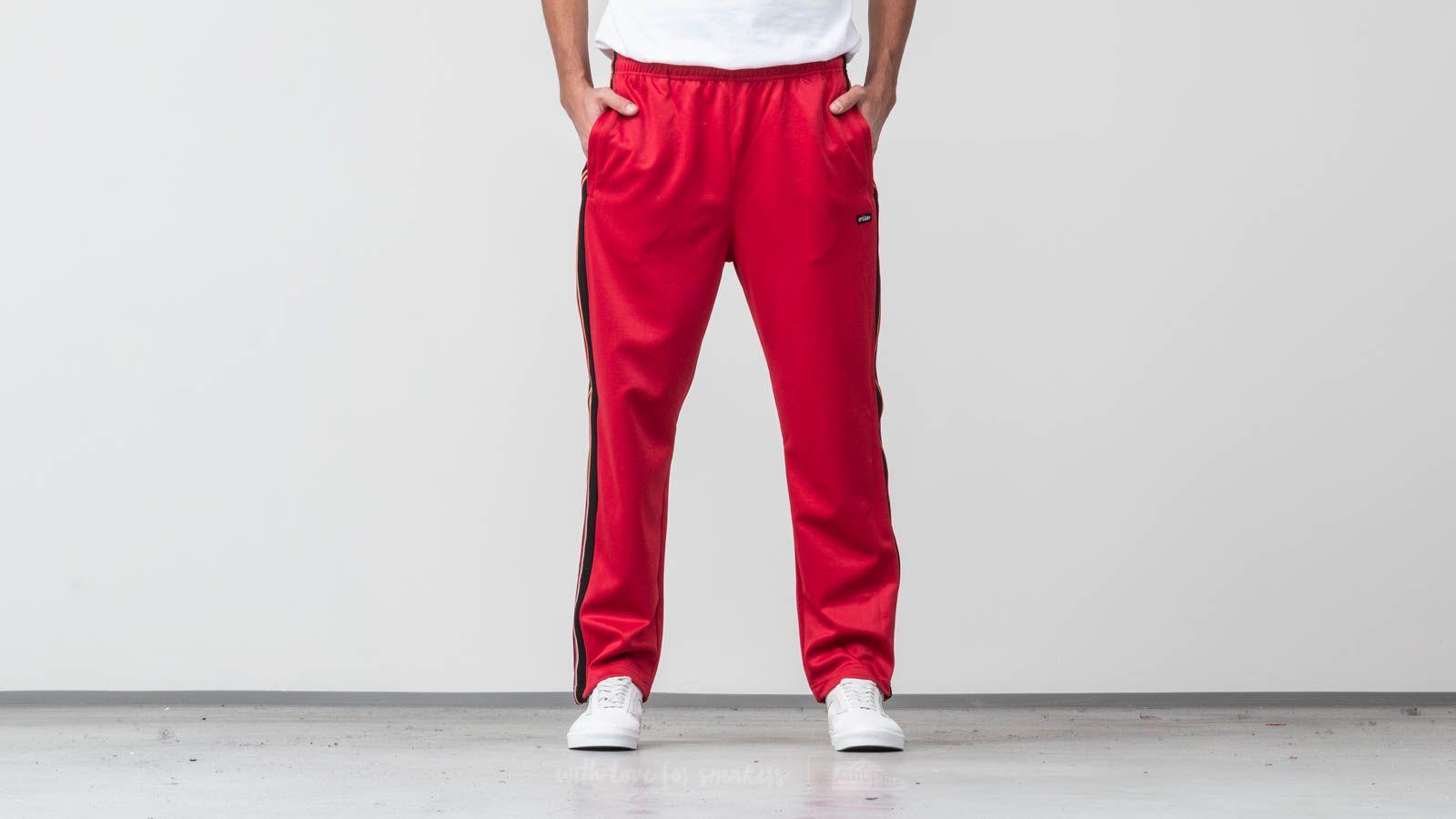 Stüssy Textured Rib Track Pant Red za skvělou cenu 1 320 Kč koupíte na Footshop.cz