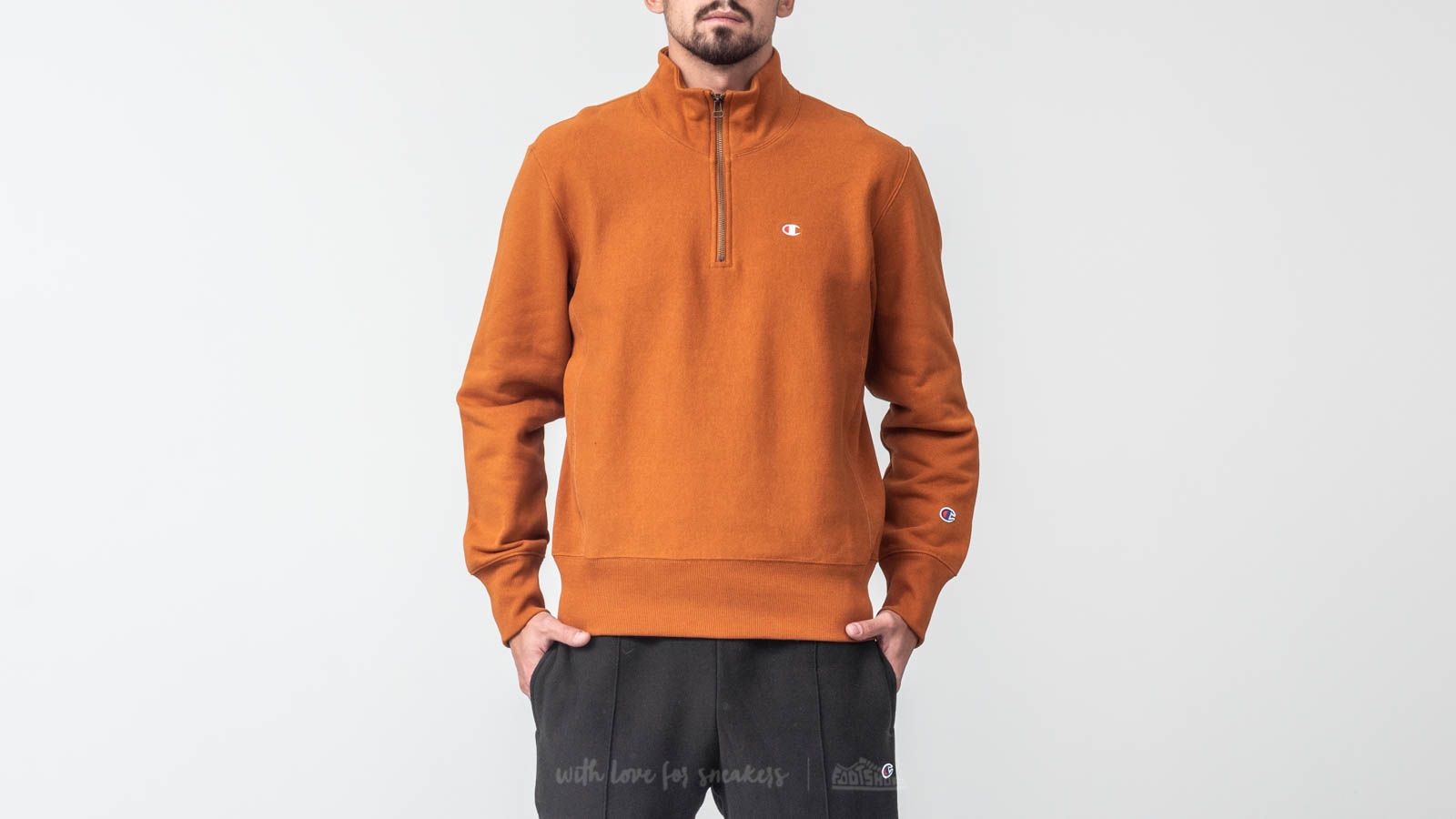 Champion Double Dry Classic Fleece 1/4 Zip Crewneck