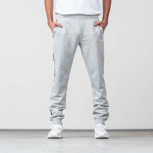 FILA Men Tadeo Tape Sweat Pants Light Grey Melange Bros