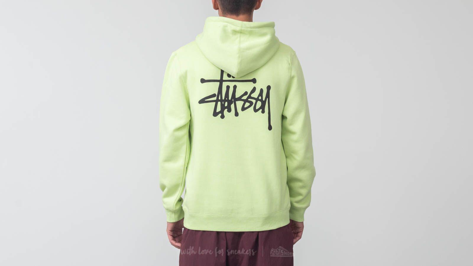 Sweatshirts Stüssy Basic Hoodie Pale Green | Footshop
