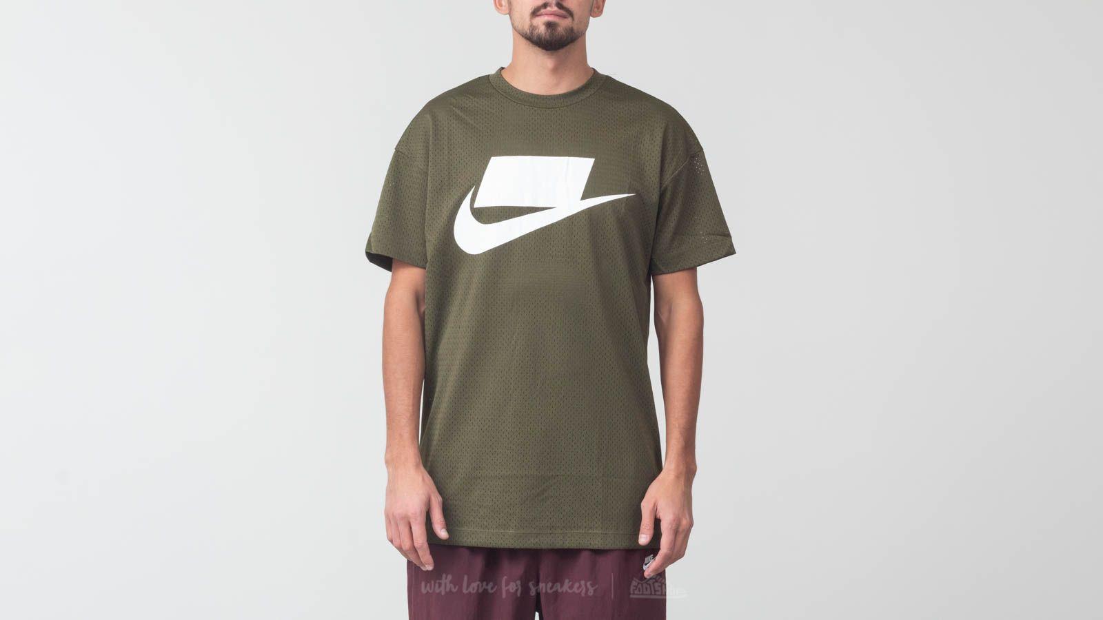 Nike Sportswear Shortsleeve Mesh Top Olive Green za skvělou cenu 909 Kč koupíte na Footshop.cz