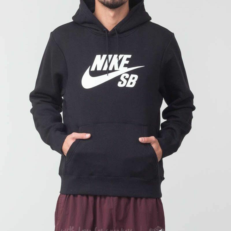 Nike SB Icon Essential Hoodie Black/ White