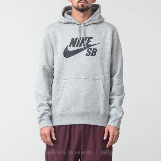 Nike SB Icon Essential Hoodie Dark Grey Black | Footshop