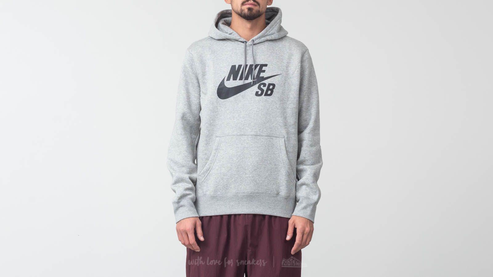 Nike SB Icon Essential Hoodie Dark Grey/ Black za skvělou cenu 1 110 Kč koupíte na Footshop.cz