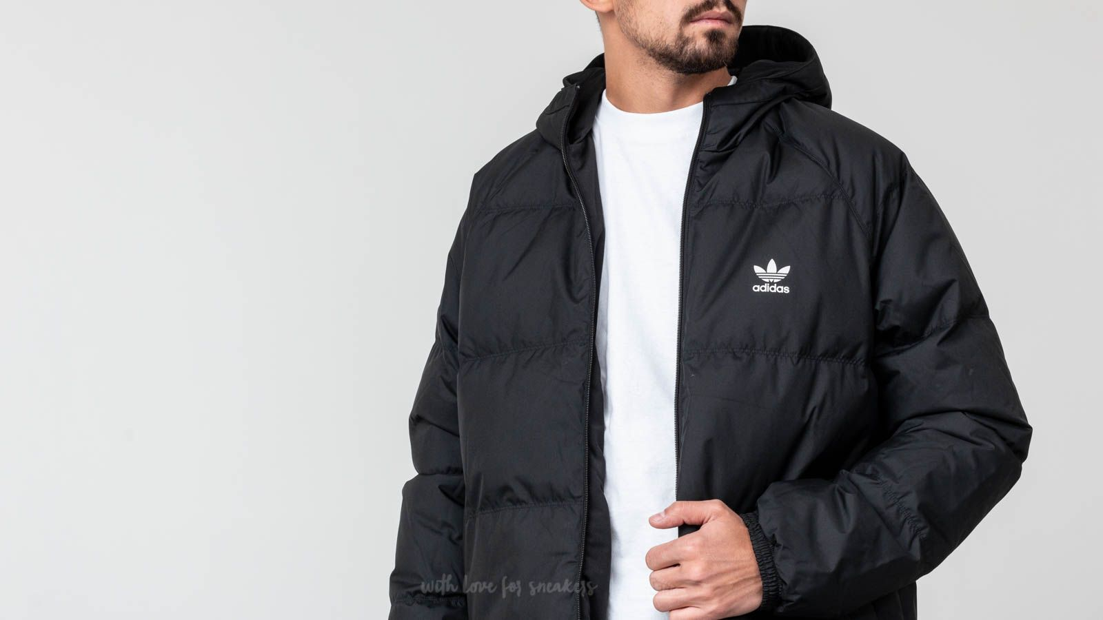 adidas Superstar Down Hood Jacket Black | Footshop