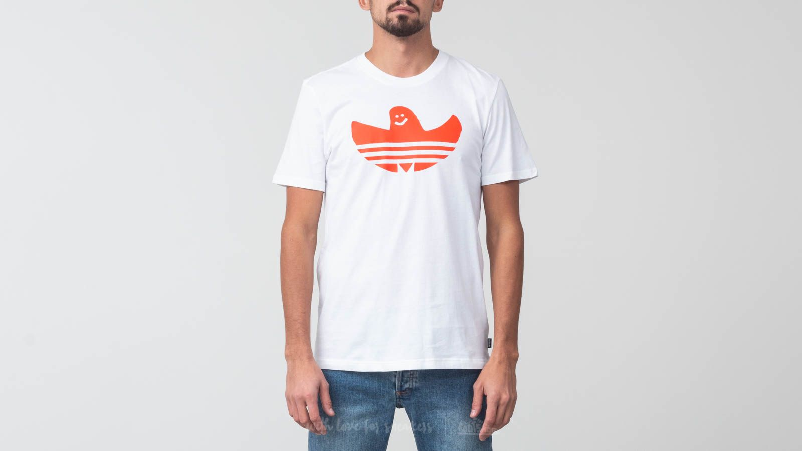 adidas Originals Solid Shmoo Tee White/ Collegiate Orange