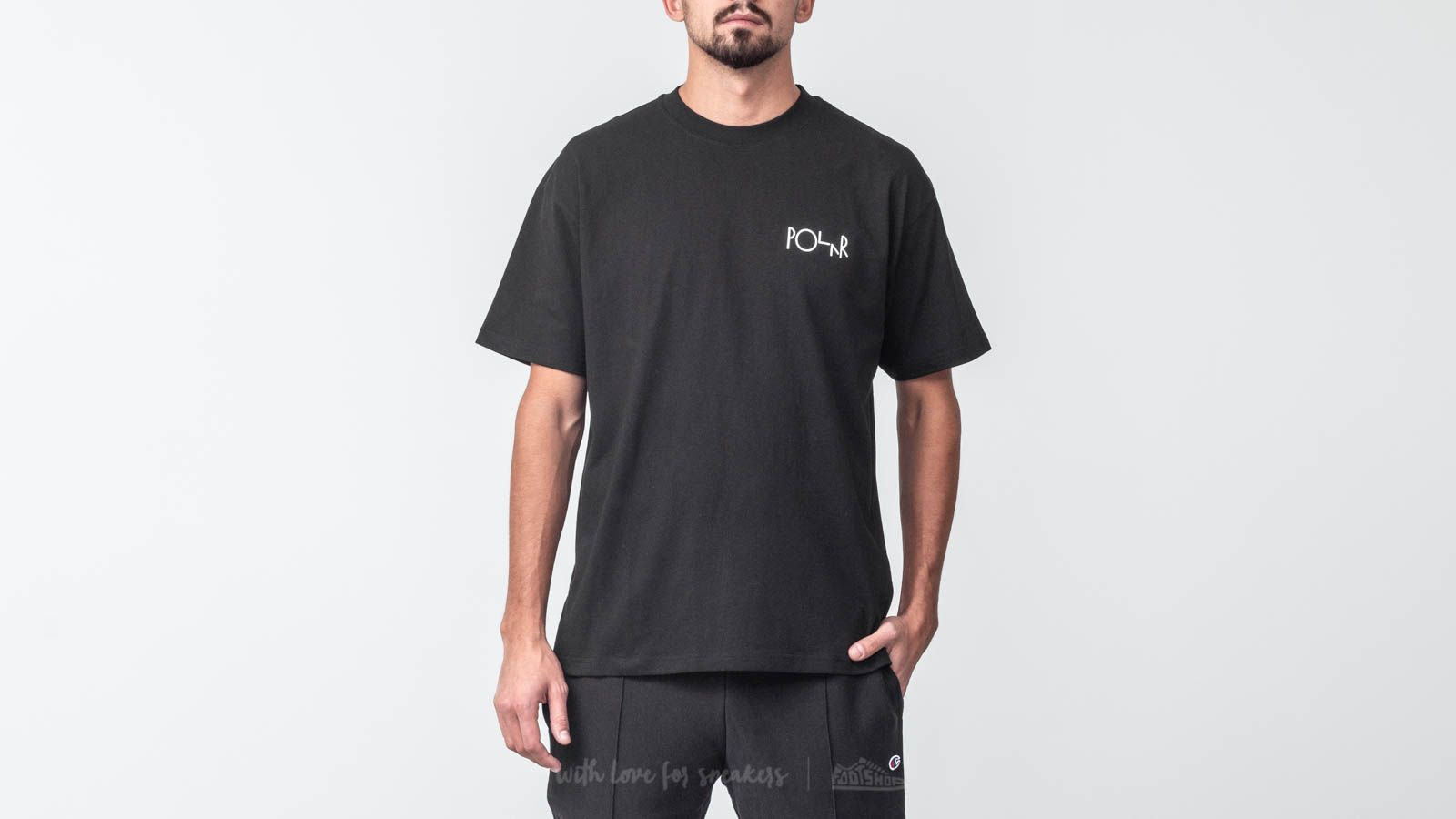 Polar Skate Co. Stroke Logo Tee Black