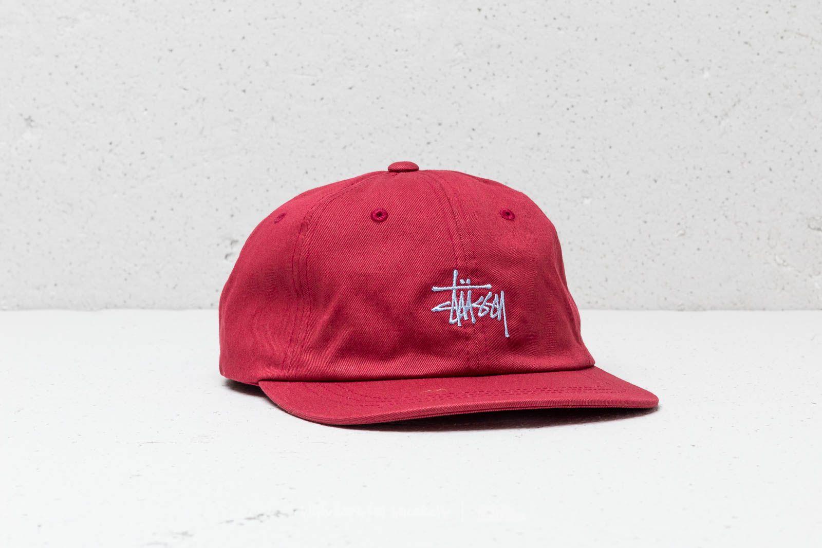 2bcdd5f0e8e Stüssy Stock Low Pro Cap Red