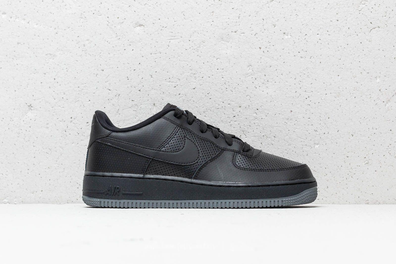 innovative design ea6cd e0d30 Nike Air Force 1 LV8 Perf (GS) Black  Black-Dark Grey at