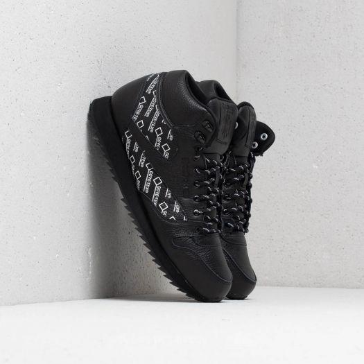 Reebok CL Leather Mid Ripple Gore Tex Black White | Footshop