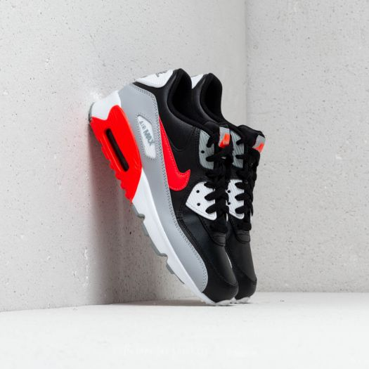 best sneakers 04c5e 2f464 Nike Air Max 90 Leather (GS) Wolf Grey/ Bright Crimson-Black ...