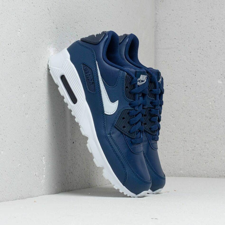 Nike Air MAx 90 LTR (GS) Blue Void/ Pure Platinum-White EUR 38.5