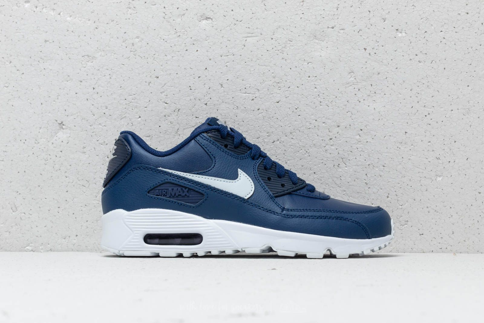 size 40 bb1ef 15fcf Nike Air MAx 90 LTR (GS) Blue Void  Pure Platinum-White at