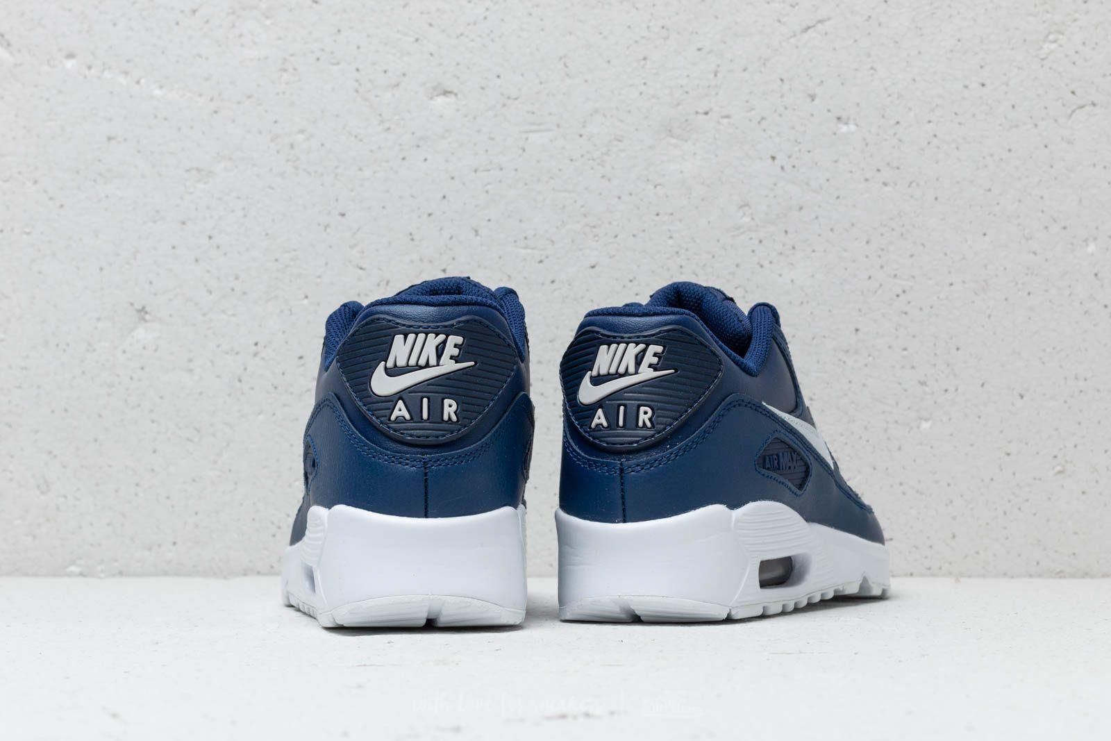 Nike Air MAx 90 LTR (GS) Blue Void Pure Platinum White | Footshop