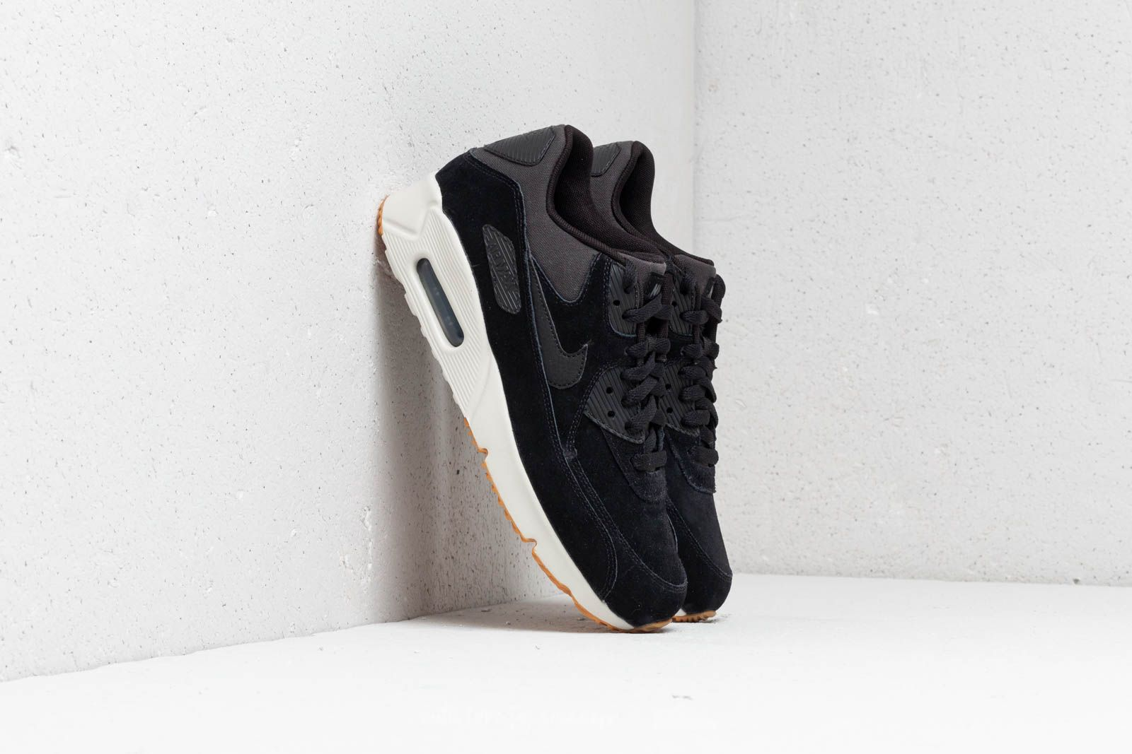 detailed look 89707 eb525 Nike Air Max 90 Ultra 2.0 Leather Black/ Black-Light Bone ...