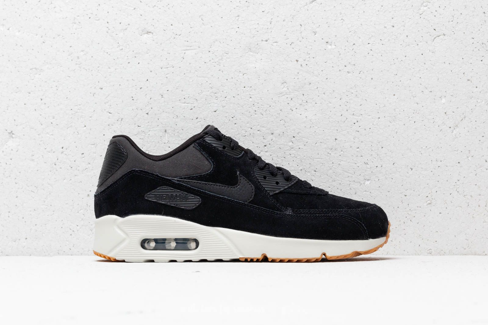 6ccd81de9d Nike Air Max 90 Ultra 2.0 Leather Black/ Black-Light Bone la un preț