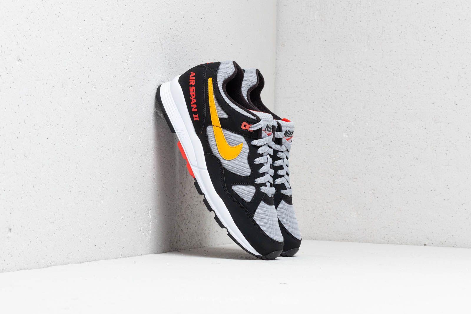 Pánské tenisky a boty Nike Air Span II Black/ Yellow Orche-Wolf Grey