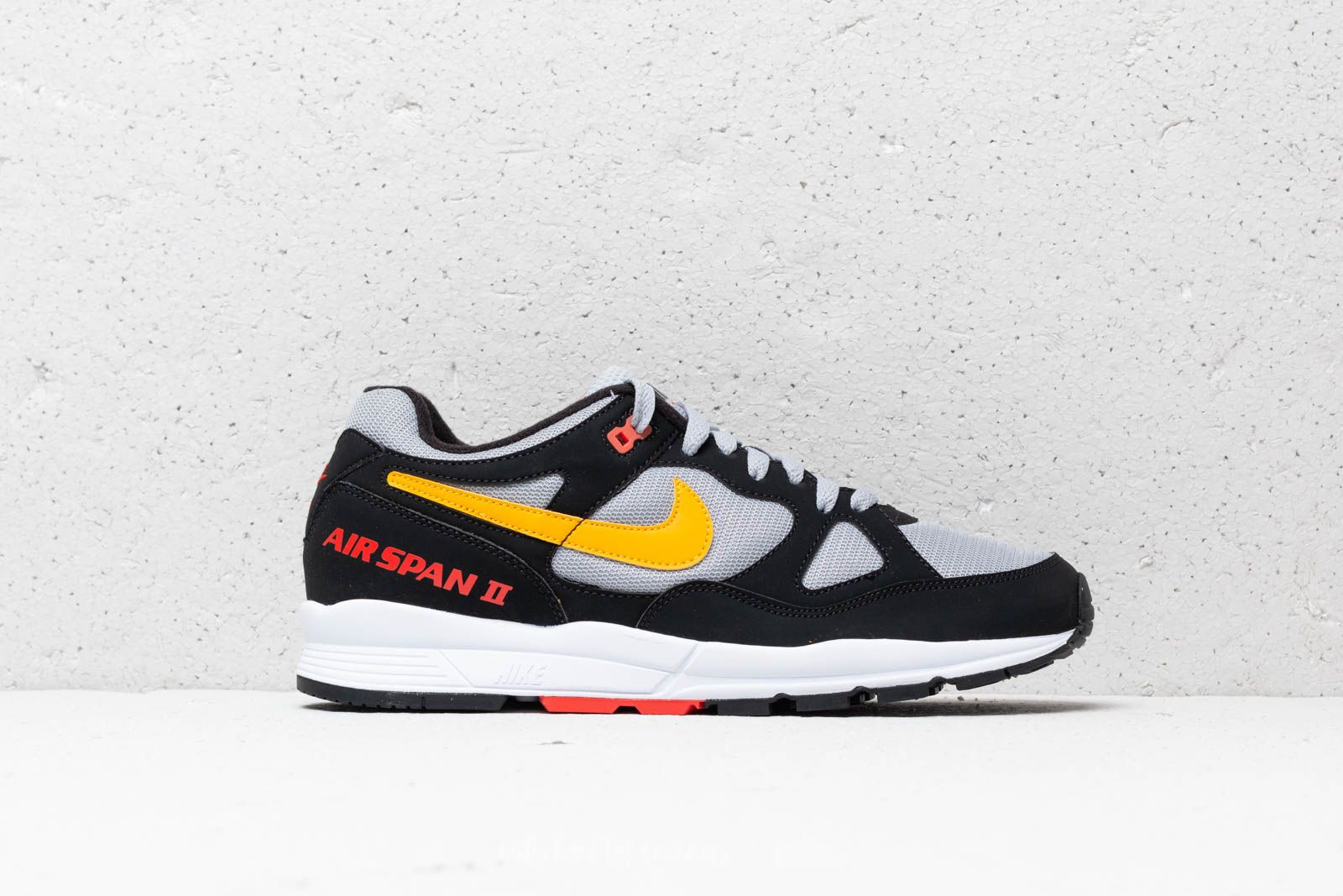 fc8702880c1c Nike Air Span II Black  Yellow Orche-Wolf Grey at a great price 99