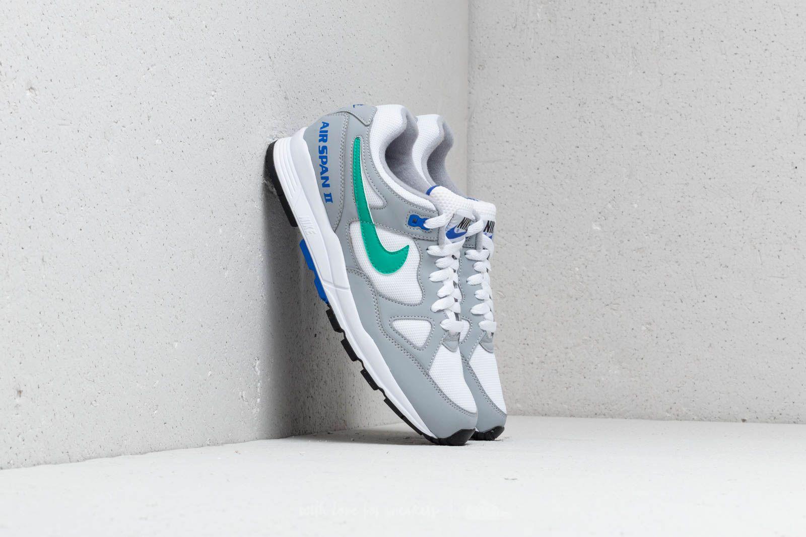 Pánské tenisky a boty Nike Air Span II Wolf Grey/ Clear Emerald-White