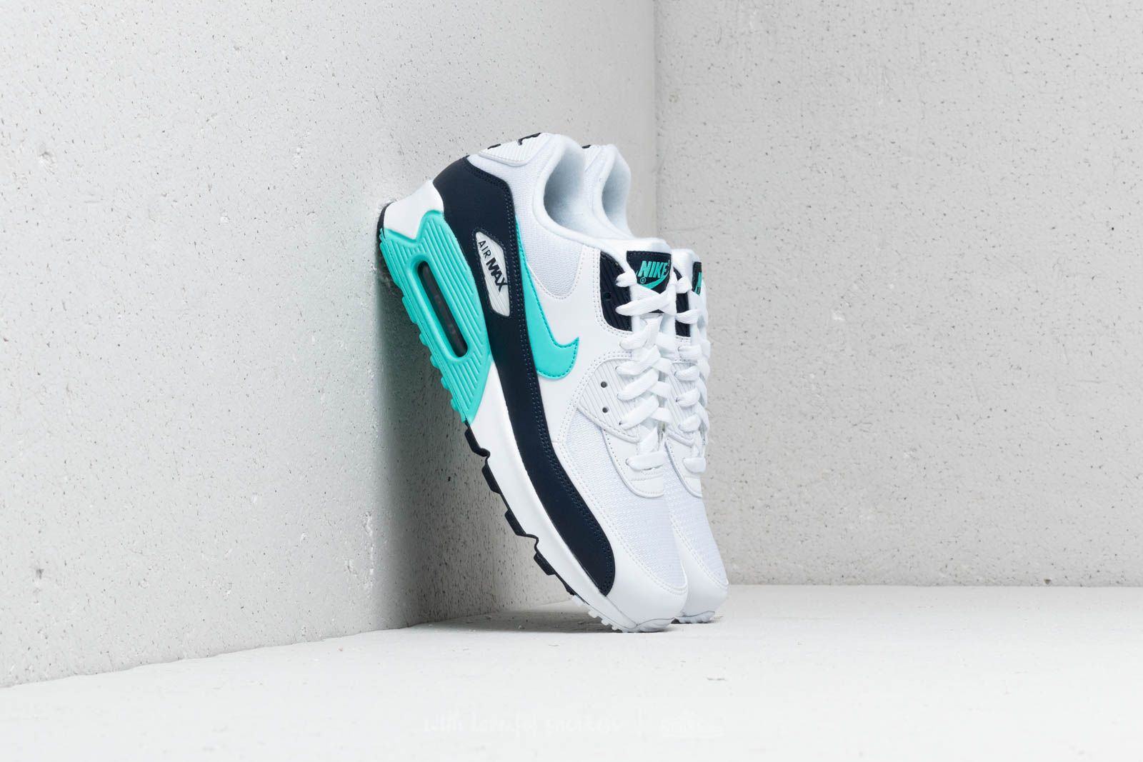 brand new bee06 3ee8a Nike Air Max 90 Essential. White  Aurora Green