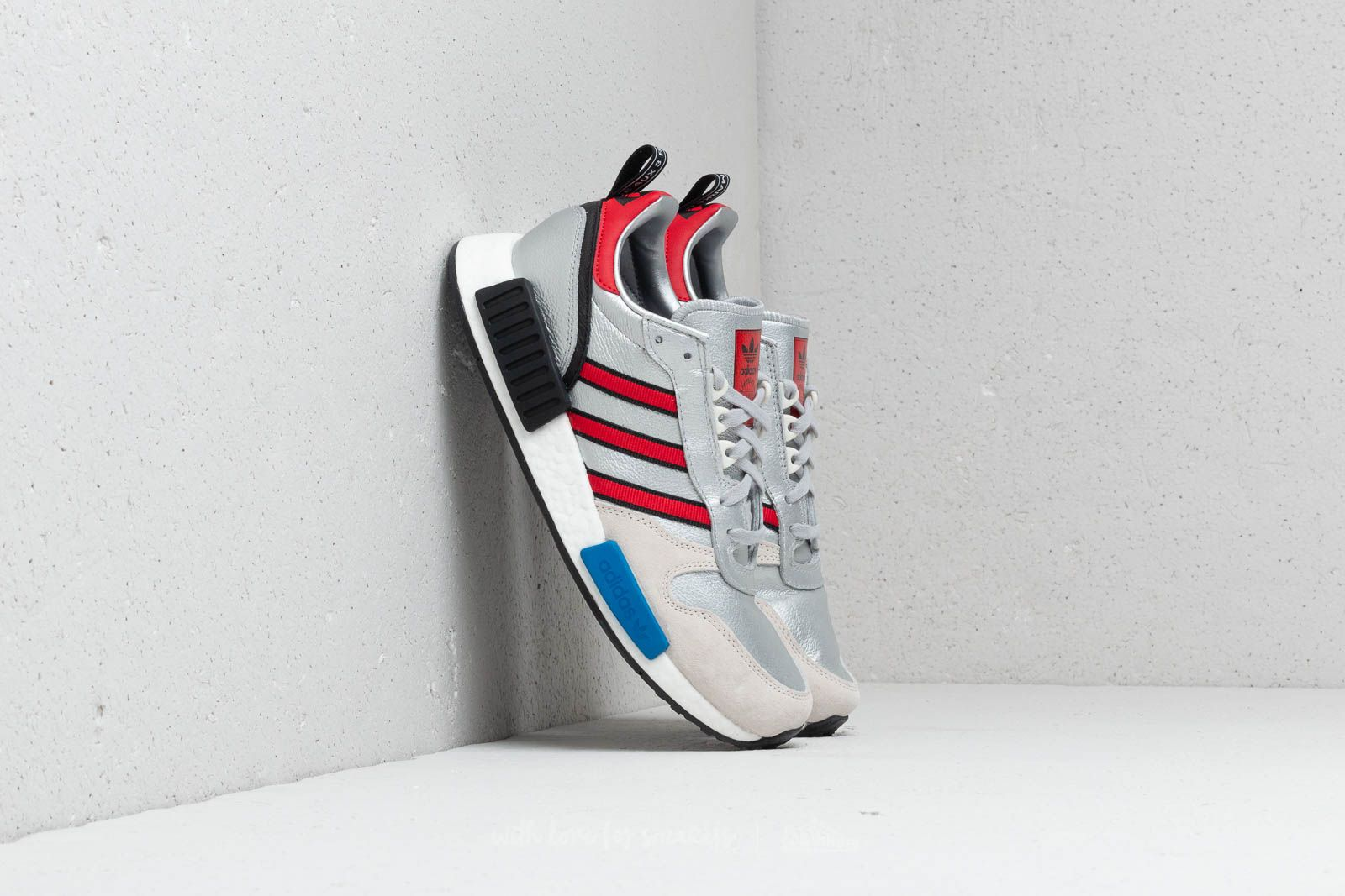 check out 10806 4c0fc adidas Rising Star x R1 Silver Metallic Collegiate Red Ftw White a muy  buen