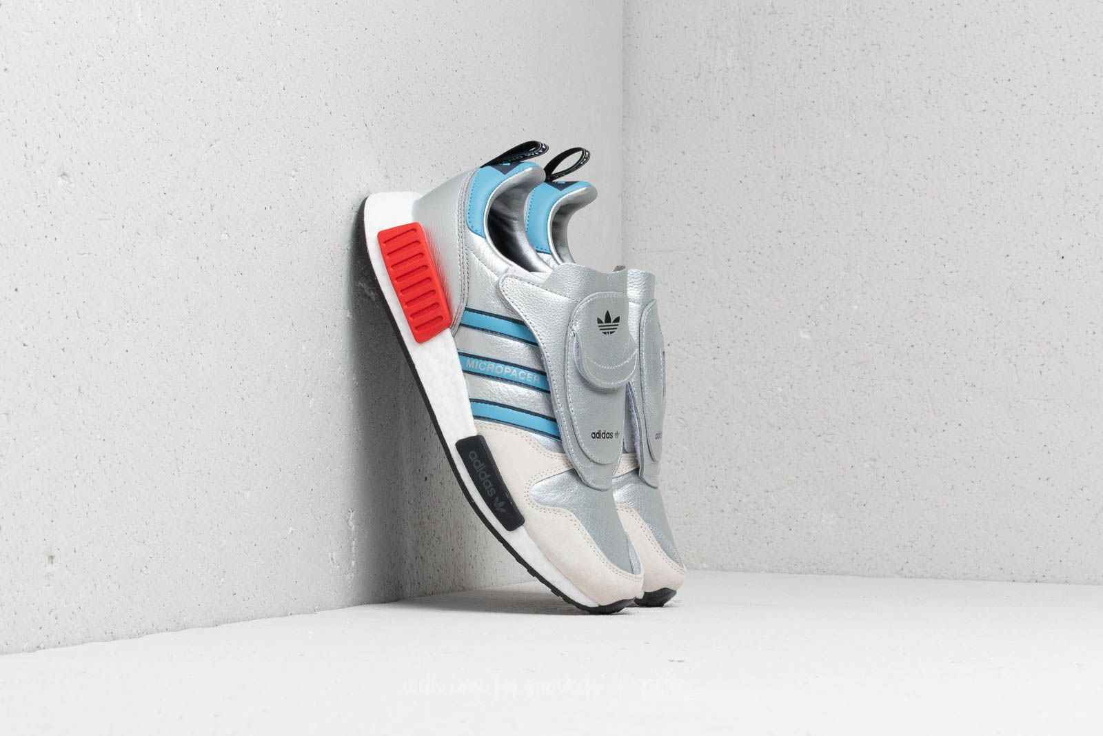 9ea3aa6692eb8 adidas Micropacer x R1 Silver Metallic  Light Blue  Ftw White at a great  price