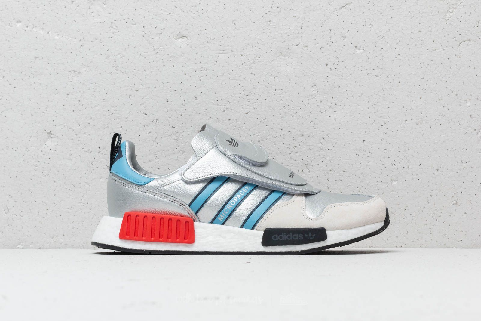 5970f0bbbafa7 adidas Micropacer x R1 Silver Metallic  Light Blue  Ftw White at a great  price