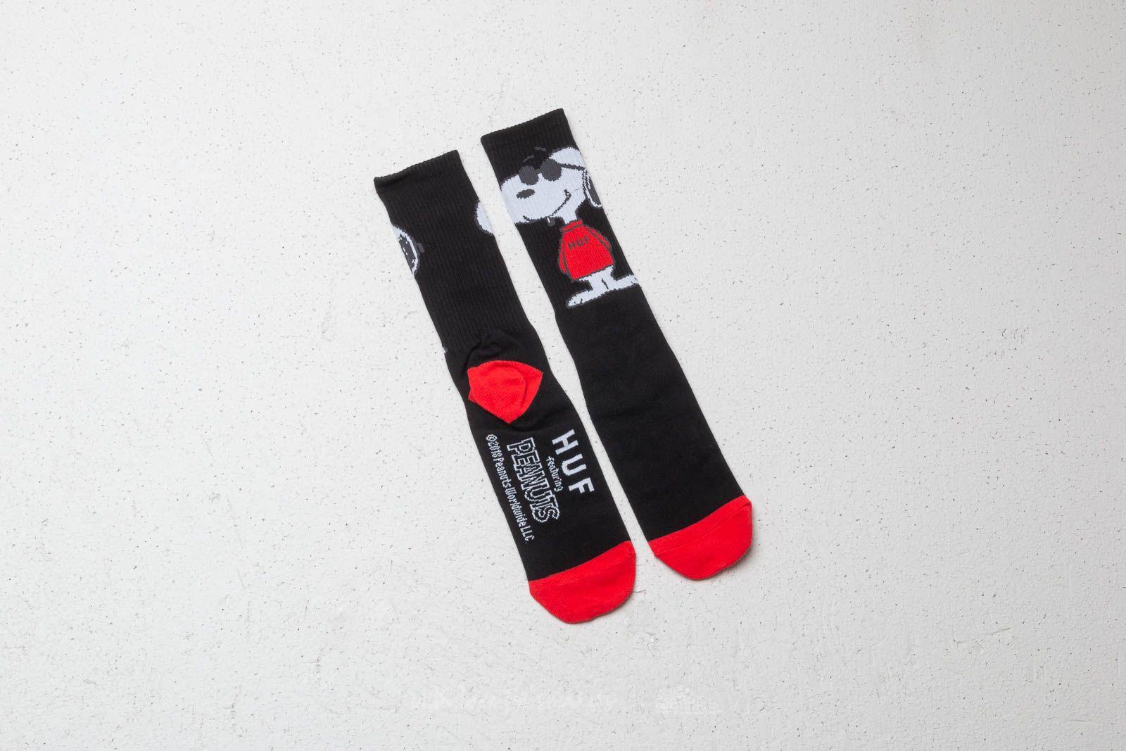 HUF x Peanuts Joe Cool Crew Socks Black za skvělou cenu 300 Kč koupíte na Footshop.cz