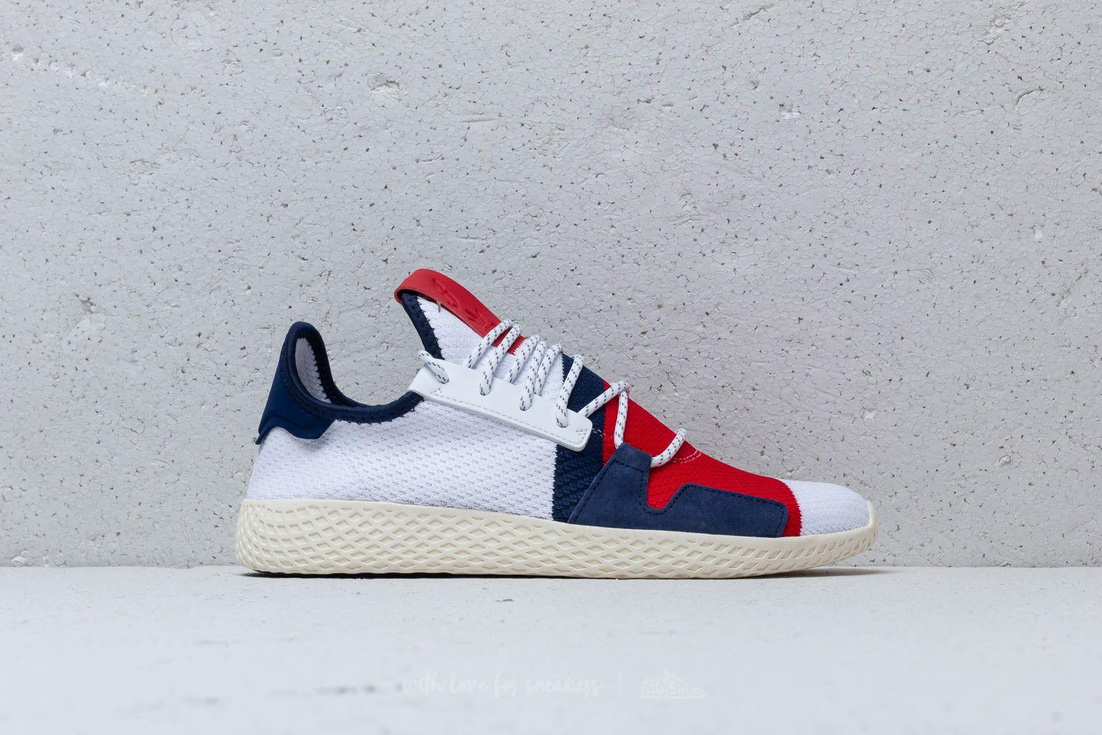 sports shoes 63c50 ebf5a adidas x Pharrell Williams BBC Hu V2 Footwear White  Scarlet au meilleur  prix 130 €