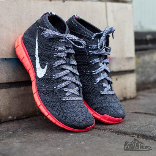sports shoes 12e85 06a1d Nike Free Flyknit Chukka Dark Grey/White/Black/Hot Lava ...