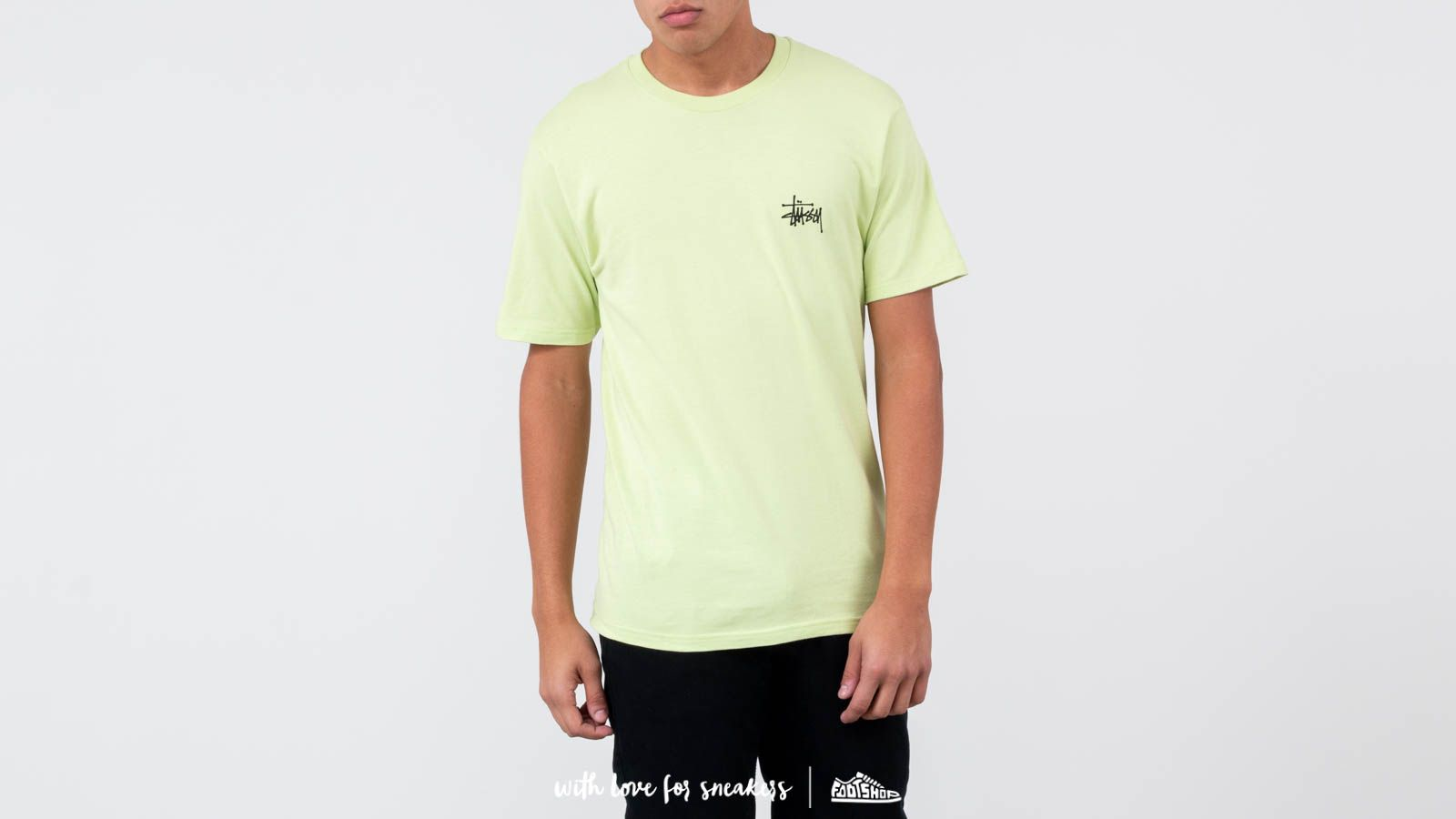 Stüssy Basic Tee Pale Green