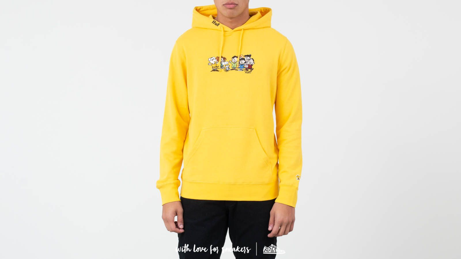 Mikiny a svetry HUF x Peanuts End Credit Pullover Hoodie Yellow