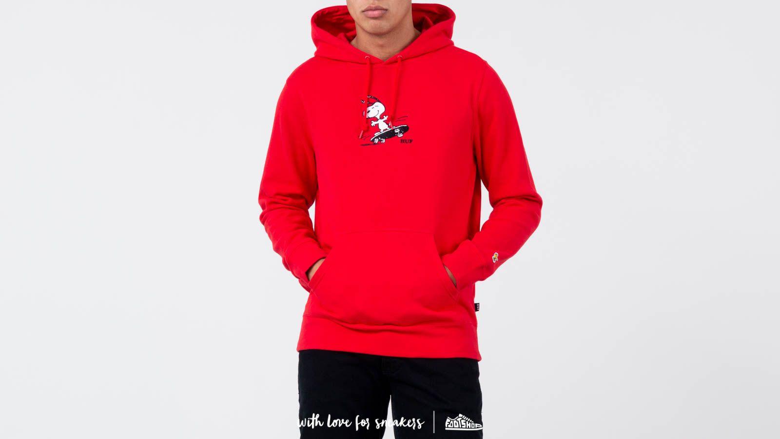 f2e6efa8b0 HUF x Peanuts Snoopy Skates Hoodie Red