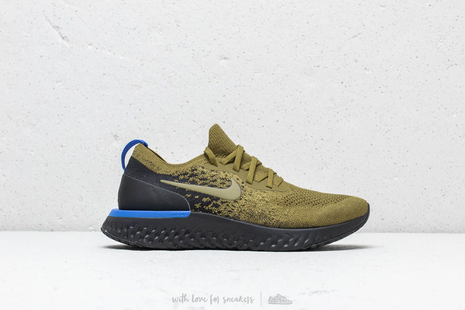 9c243ee07609 Nike Epic React Flyknit Olive Flak  Olive Flak-Black at a great price £