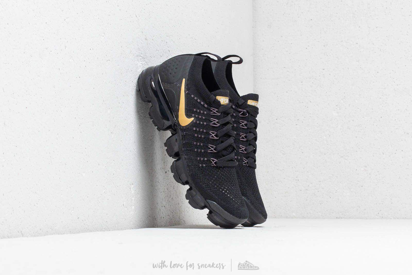 dba5ca143a5 Nike Air Vapormax Flyknit 2 W Black  Metallic Gold at a great price £181
