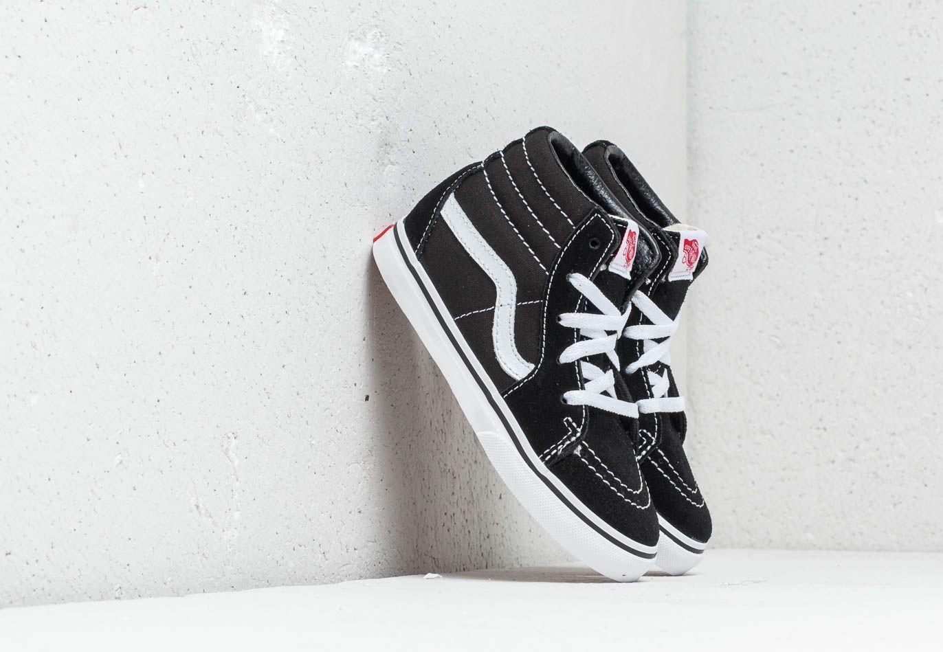 Vans Toddler SK8-Hi Black/ True White EUR 26.5