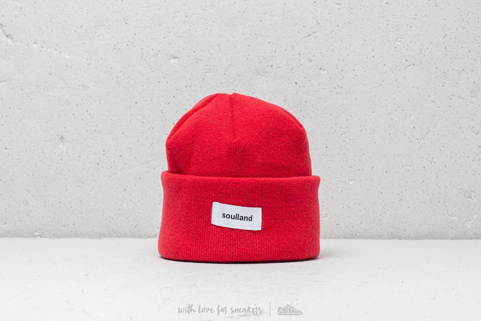 Soulland Villy Beanie Blood Red za skvelú cenu 28 € kúpite na Footshop.sk