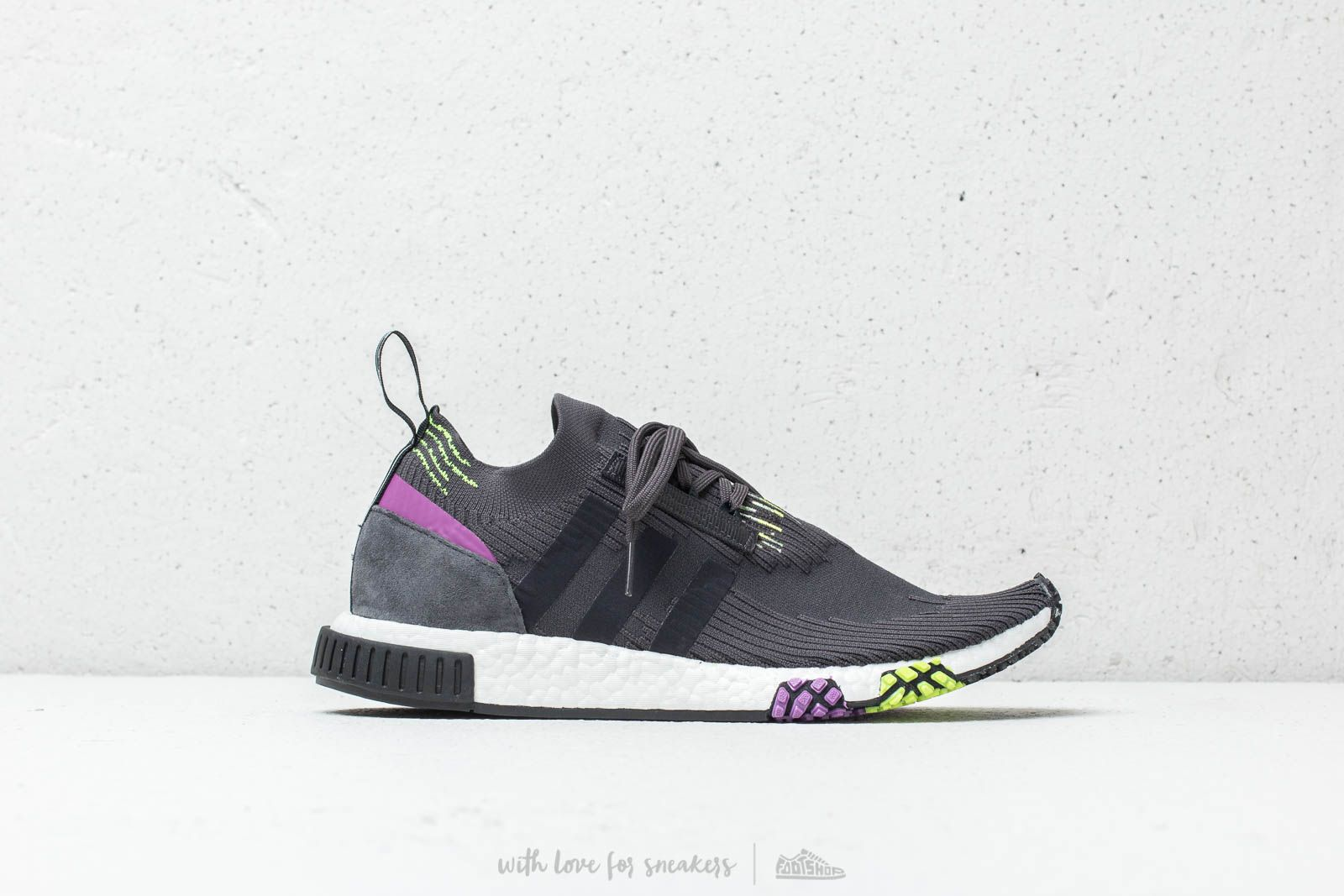 1354f9620 adidas NMD Racer Primeknit Carbon  Core Black  Solar Yellow at a great price  165
