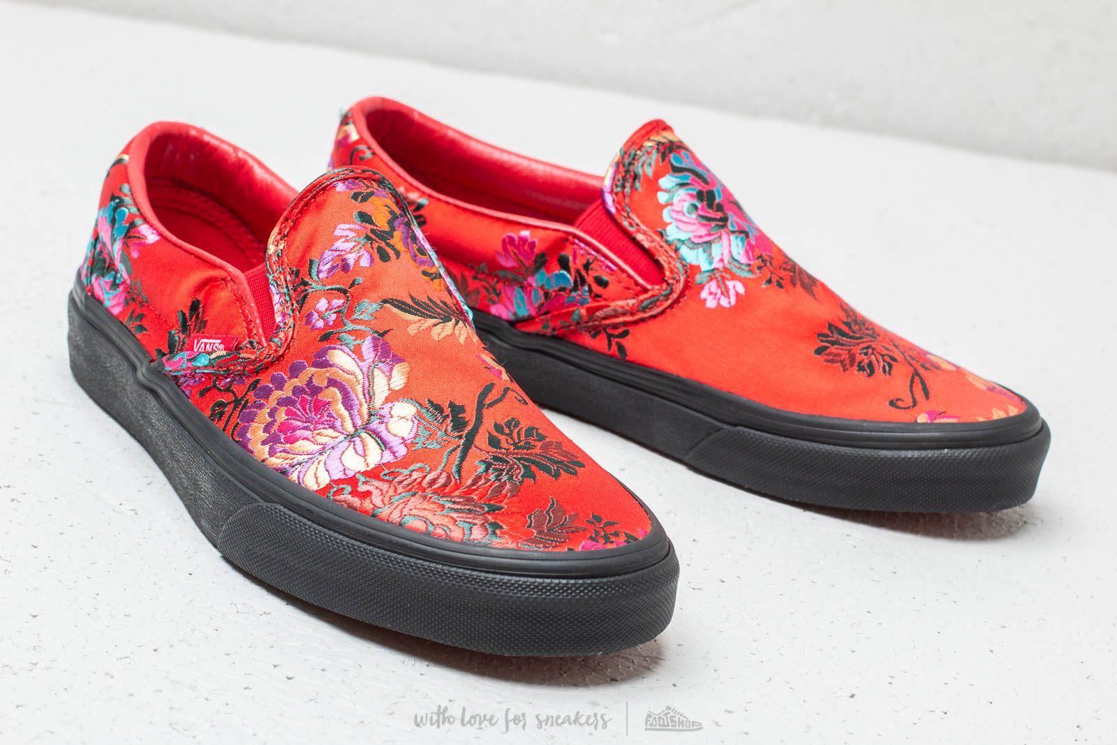 Satin Satin Satin festival Classic On Vans Footshop Slip Red Black qHwI7vSn 56c1e5cc7
