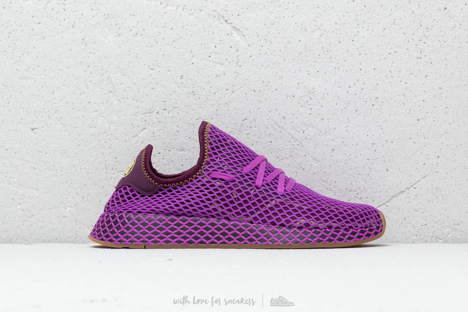 adidas x Dragon Ball Z Deerupt Runner Shock Purple Red Night Shock Yellow | Footshop
