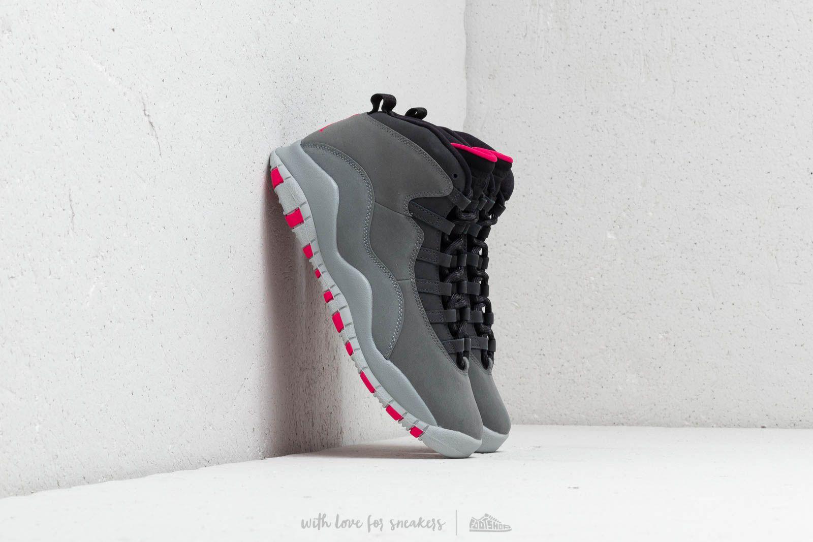 Air Jordan 10 Retro (GS) Dark Smoke Grey/ Rush Pink-Black